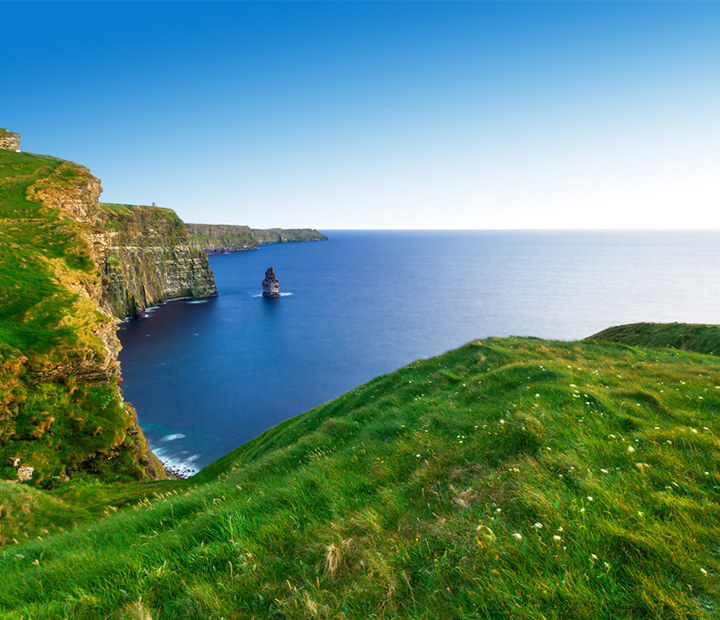 Cliffs of Moher at sunset,Ireland